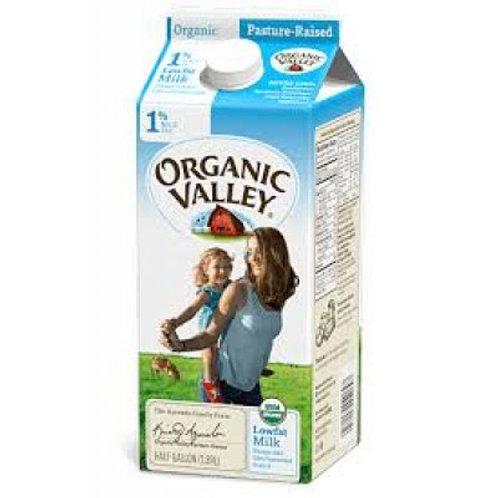 Organic 1% Milk, half gallon