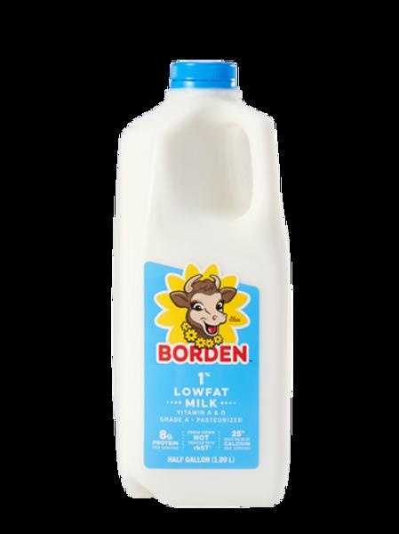 1% Milk, half gallon