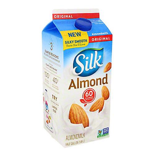 Silk Almond Milk Original, half gallon