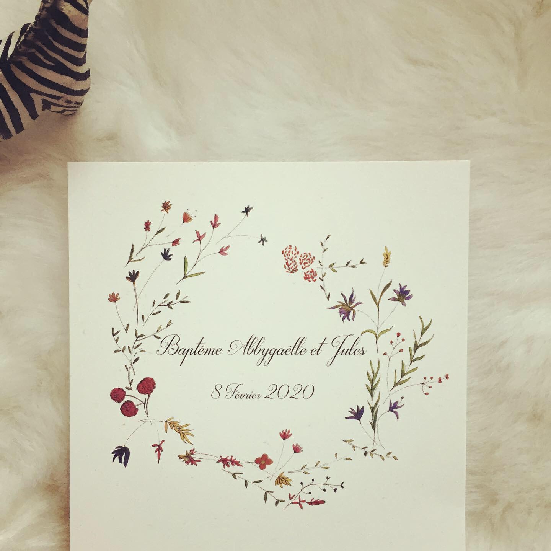 Baptême aux fleurs
