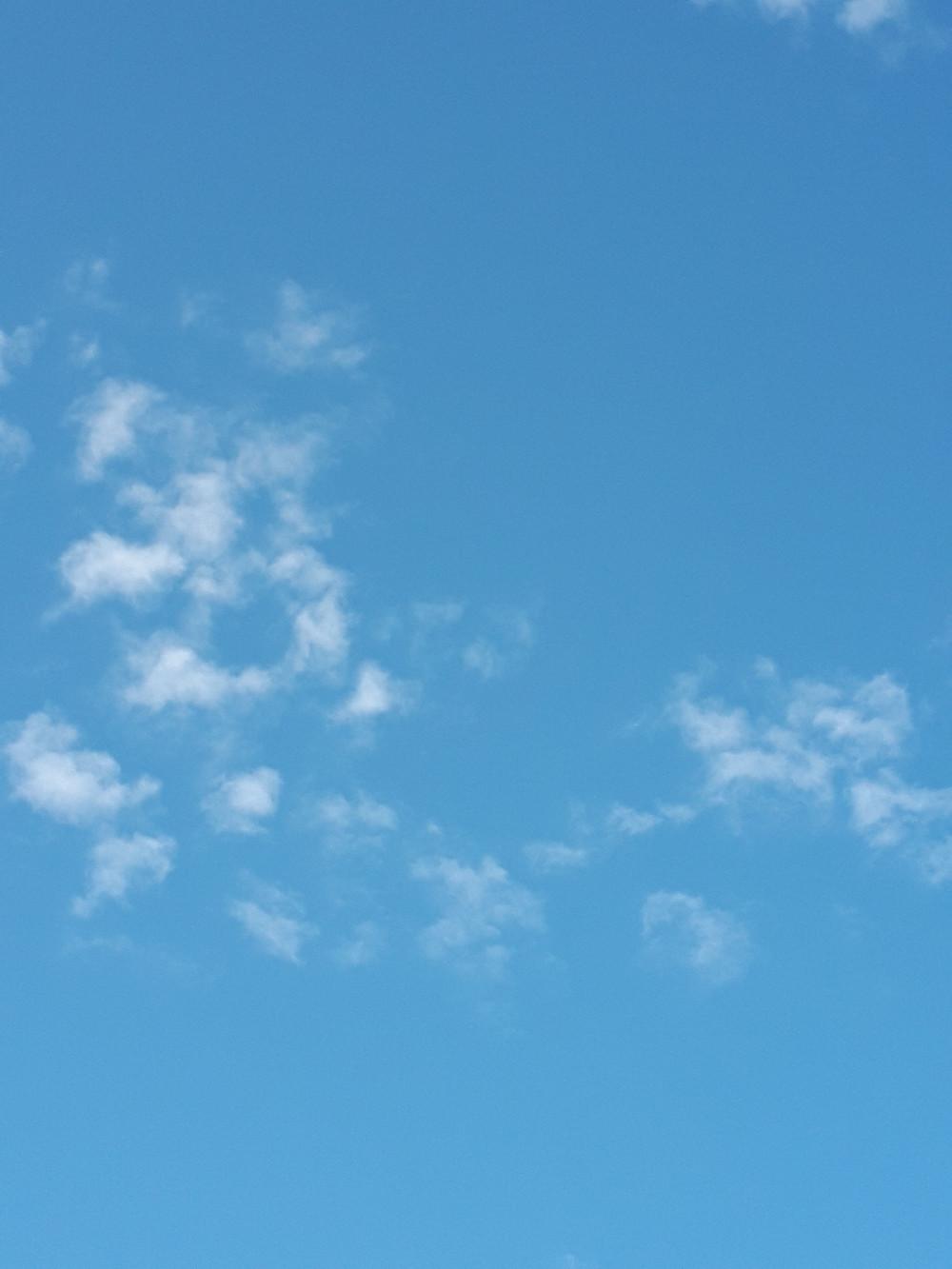 静岡市葵区のある日の空