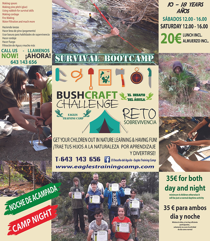 SURVIVAL DAY AND CAMP SATURDAY MAY 2019