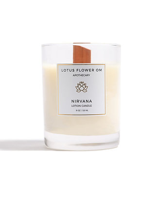 Lotus Flower Om Lotion Candle - Nirvana