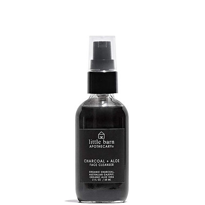 Little Barn Apothecary Charcoal + Aloe Facial Cleanser