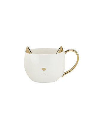 Pinky Up Chloe Kitty Mug - White