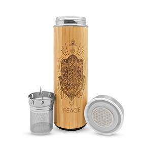 Bhavana Bamboo Water Bottle + Tea Infuser - Peace