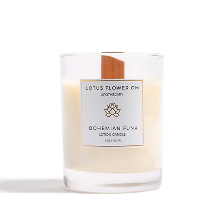 Lotus Flower Om Lotion Candle - Bohemian Funk