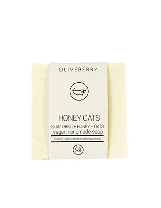 Oliveberry Honey Oats Vegan Soap