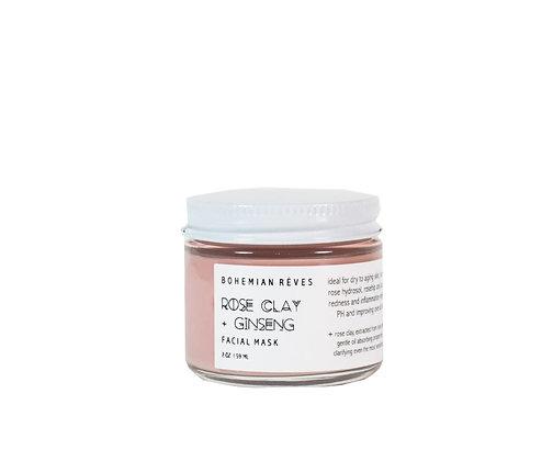 Bohemian Reves Facial Mask - Rose Clay + Ginseng
