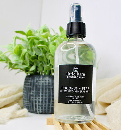 Little Barn Apothecary Refreshing Mineral Mist - Coconut + Pear