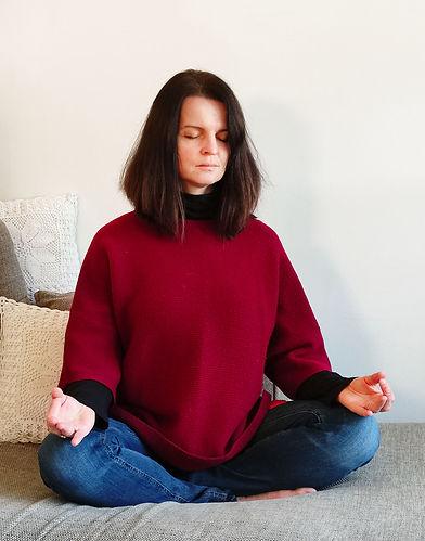 Seated Meditation Pose with Chin Mudra