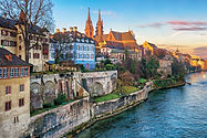 Basel Switzerland - Old Town on the Rhin