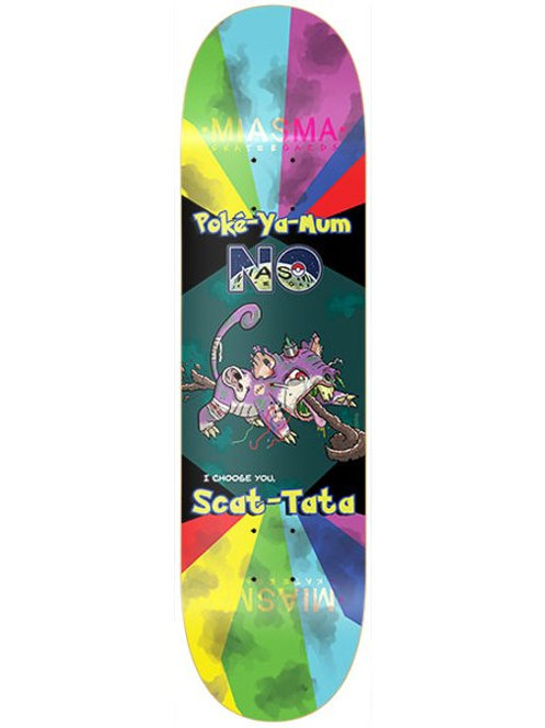 Miasma Skateboards Scat Tata deck