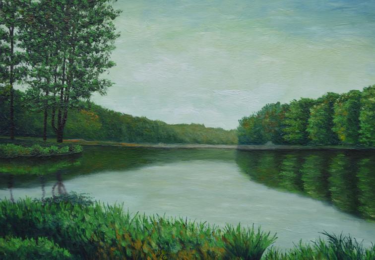 Mountain Lake in Green (summer)