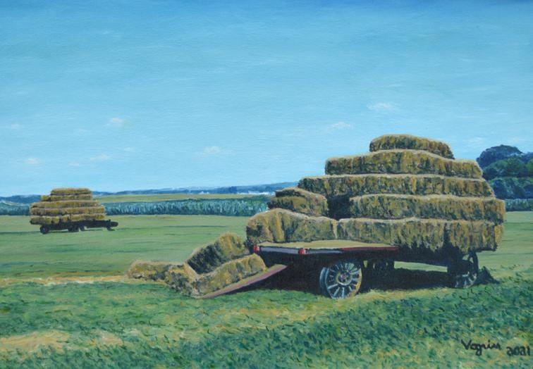 Amish Hay Cart