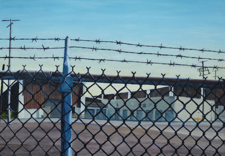 Warehouse and Barbed Wire