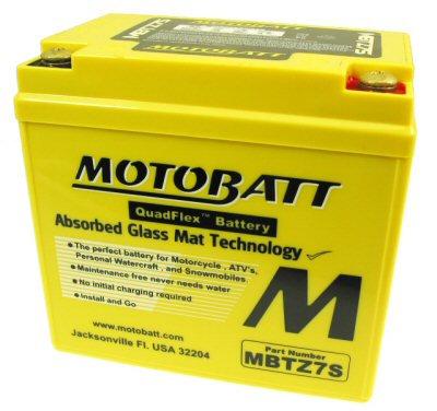MotoBatt Quadflex Battery 12v 7ah