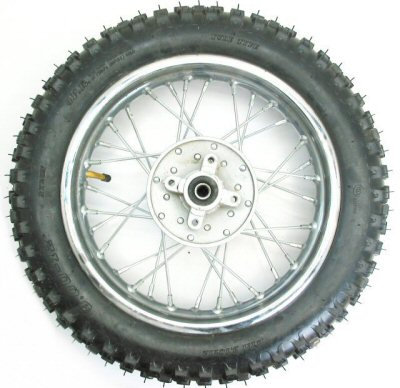 "12"" Dirt Bike Rear Wheel Assembly"