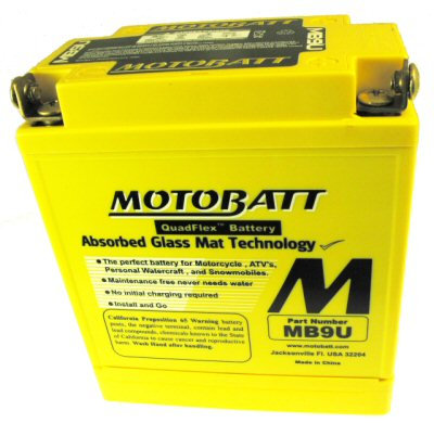 MotoBatt Quadflex Battery 12v 9ah