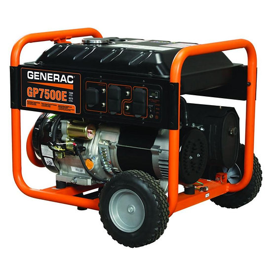Generac 5943 GP7500E Gas Powered Portable Generato