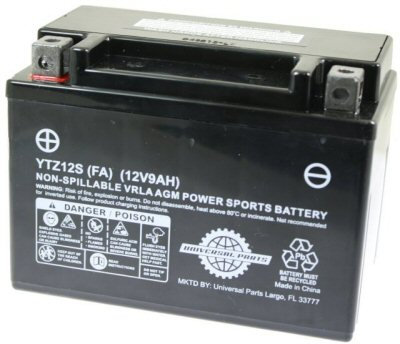 12V 9AH Battery YTZ12S - Factory Activated