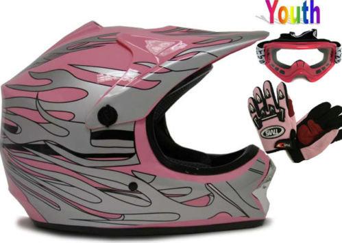Pink Helmet, Gloves, Goggles
