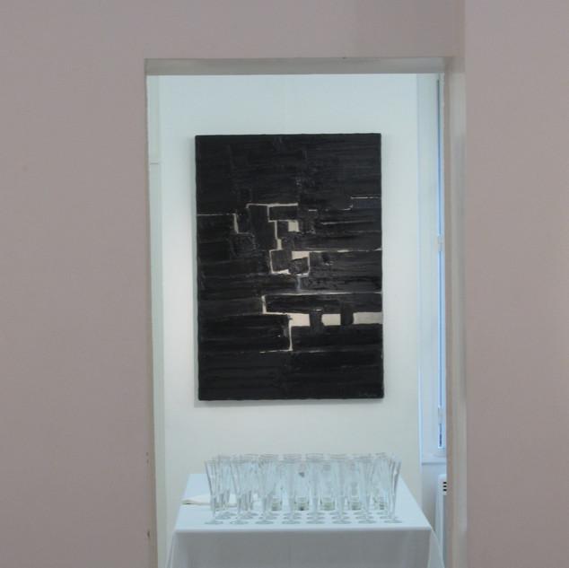 Composition Abstraite en noir, huile sur toile, 100X120