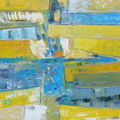 Les Vallées Jeunes, huile sur toile, 80X80