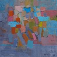 Composition Amoureuse, huile sur toile, 60X90