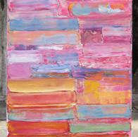 Soleil Couchant, huile sur toile 50X70