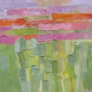 Elégie Printanière, huile sur toile, 100X100