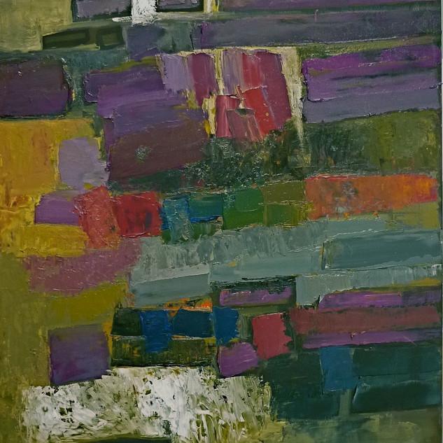 Composition Abstraite, huile sur toile, 80X100