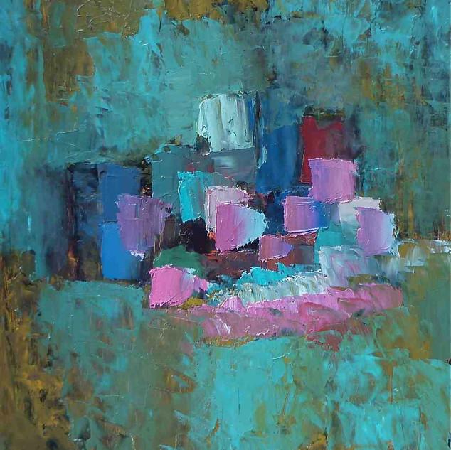 Composition Abstraite, huile sur toile, 70X100