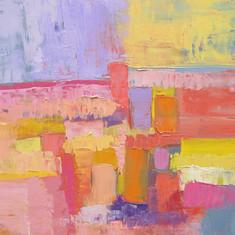 Terres d'Eté, huile sur toile, 60X80