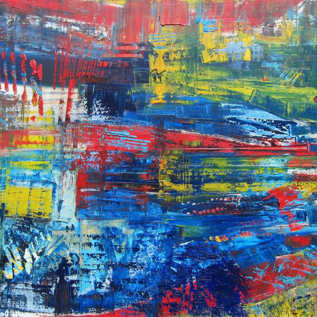 Composition Abstraite, huile sur toile 80X100