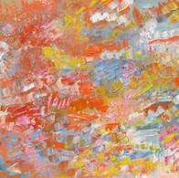 Les Couleurs Dansent, huile sur toile, 60X120