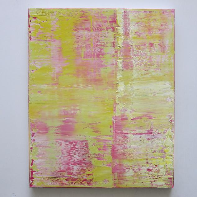 Un Ange Passe, huile sur toile, 100X80