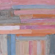 Composition abstraite, huile sur toile, 80X80
