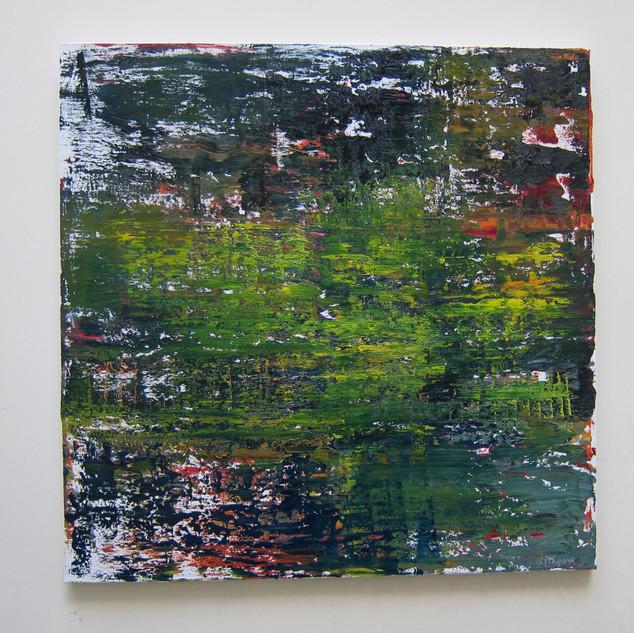 Composition Abstraite, huile sur toile, 100X100