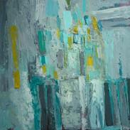 Composition Abstraite, huile sur toile, 90X90