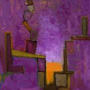Le Poète, huile sur toile, 60X80