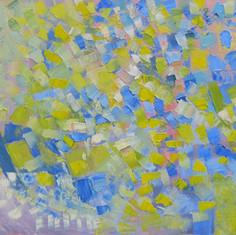 Colorhymne, huile sur toile, 80X100