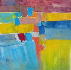 Le Soleil de la Terre, huile sur toile, 80X120