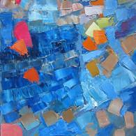 Composition Abstraite, huile sur toile 50X70