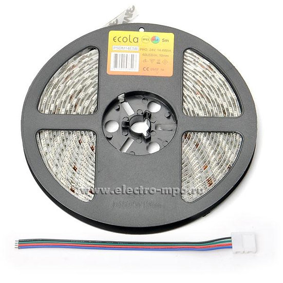 Светодиодная лента Ecola LED Strip Pro 14.4W/m 12V IP20 60Led/m 4200K(P2LV14ESB)