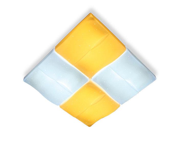 Потолочный светодиодный светильник с пультом FP2382 WH 128W