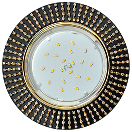 Встраиваемый светильник GX53 H4 5352/5364Круг со стразами, стекло