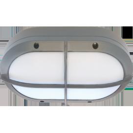 Ecola GX53 LED B4148S светильник накладной IP65 матовый Овал с решеткой алюмин.