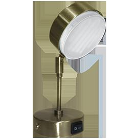 Поворотный светильник GX53 на кронштейне, металл