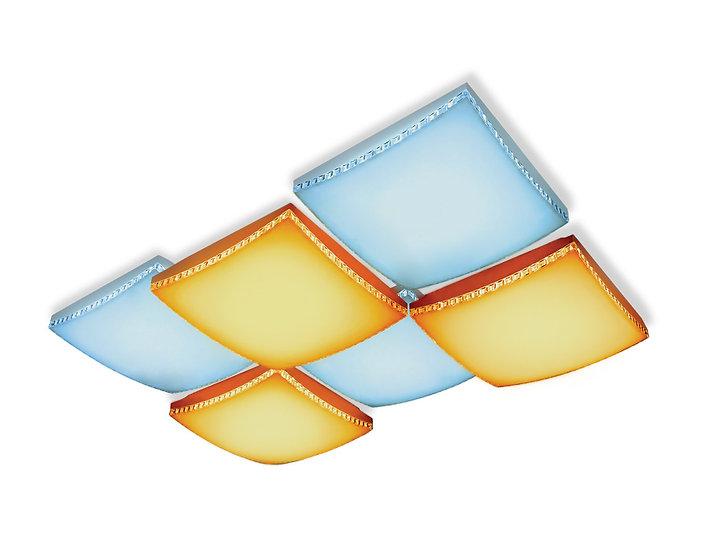 Потолочный светодиодный светильник с пультом FP2326 WH 192W